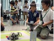 未来館で自動運転ワークショップ タブレットでプログラミング体験