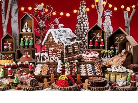 ヒルトン東京お台場でミニチュア化したクリスマス市がテーマのデザートビュッフェ