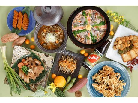 鹿児島県の食材を使ったコース