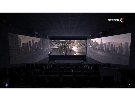 戦闘シーンを中心とした3画面映像(イメージ)