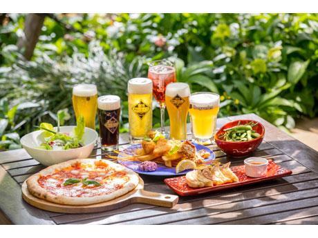 クラフト生ビールと総料理長考案の食事メニュー