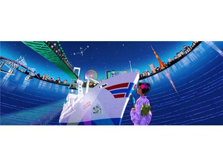 大型客船で東京湾を周遊(イメージ)