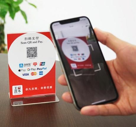 「日本美食アプリ」を使った決済(イメージ)