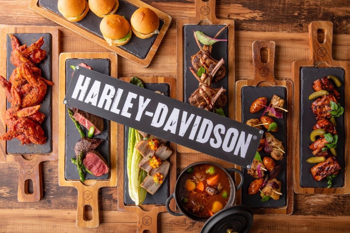 「ハーレーダビッドソン」とコラボした「肉ビュッフェ」