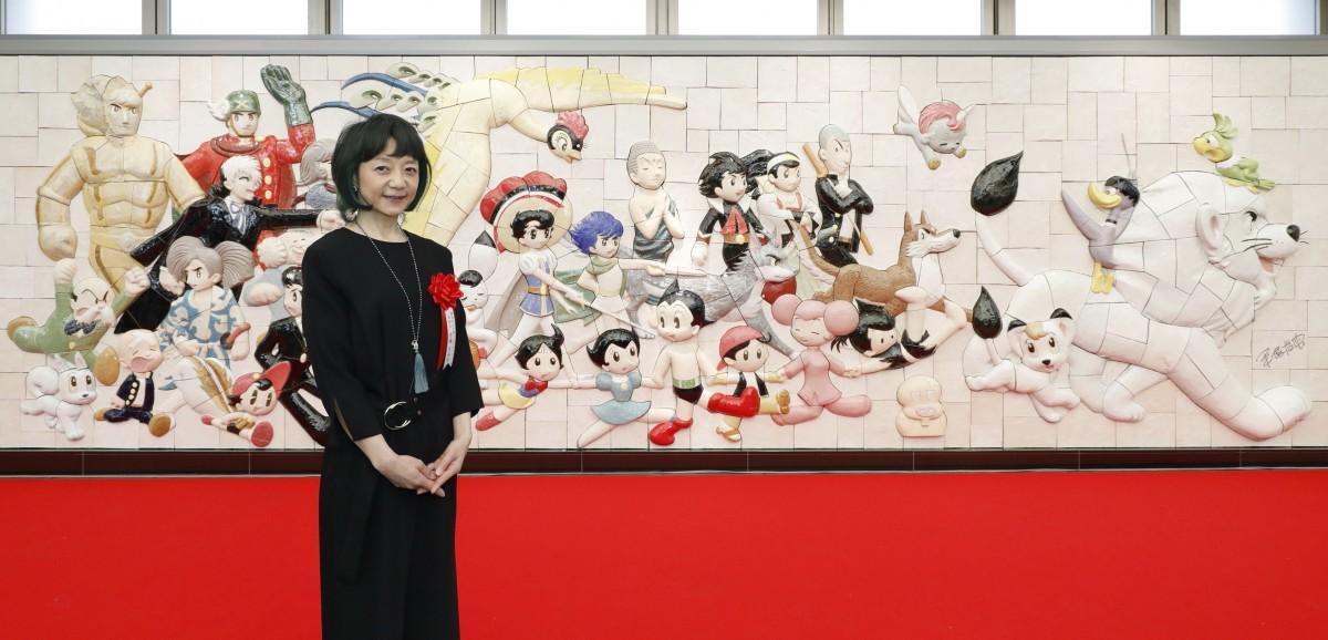 手塚プロダクション取締役の手塚るみ子さんと「Osamu Tezuka, Characters on Parade~手塚治虫キャラクターズ大行進」