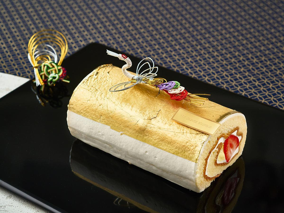 三が日限定販売の「金箔ロールケーキ」(イメージ)