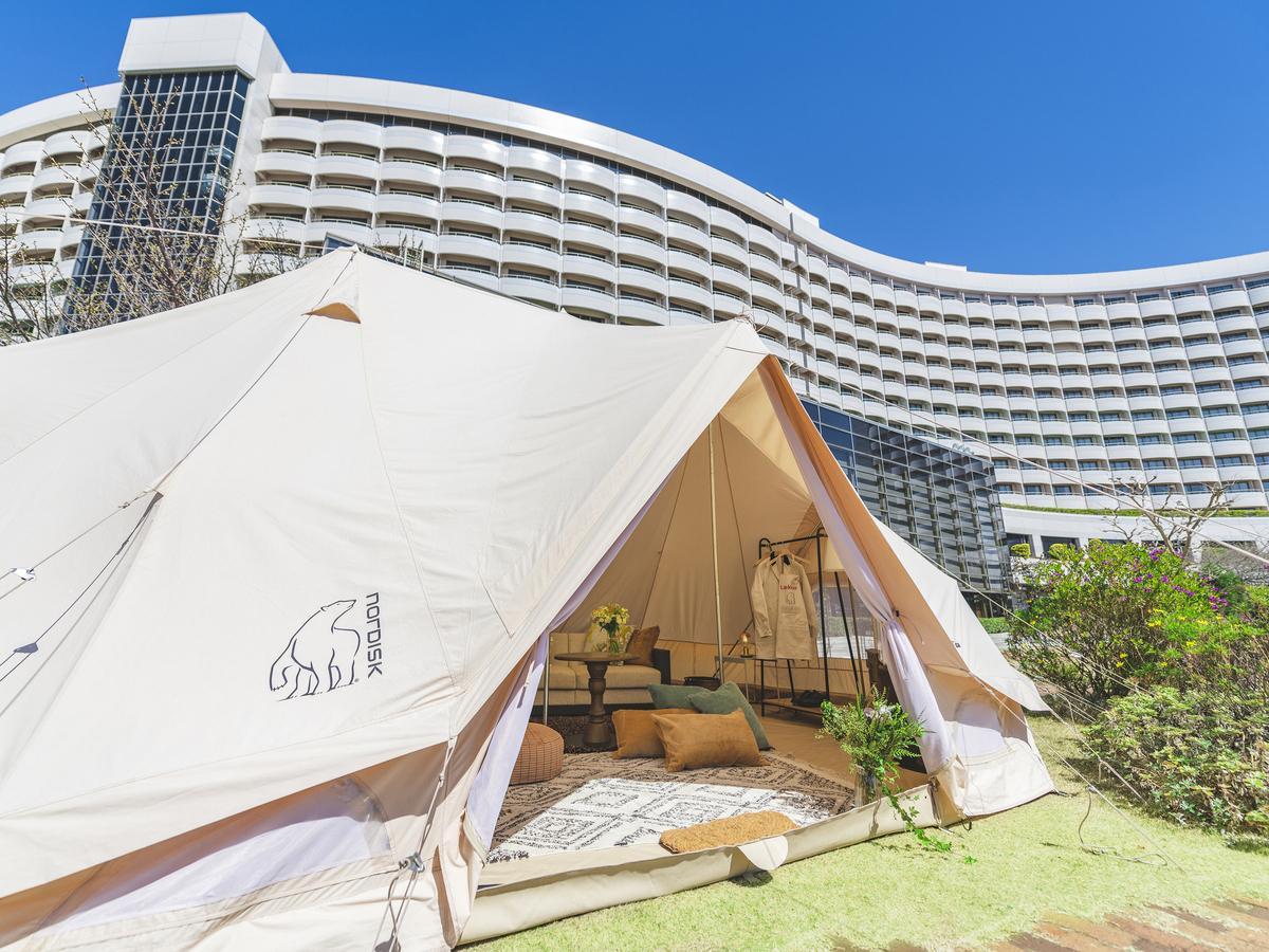 1日1室限定「ガーデングランピング・プラン」のノルディスク製キャンプテント