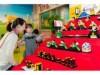 お台場でひな祭りイベント プロのレゴ職人による実物大の「ひな人形七段飾り」