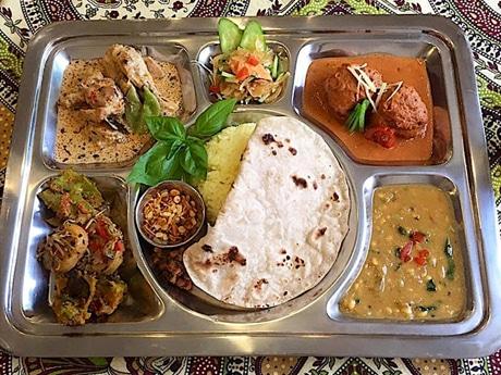 インド家庭料理の一例