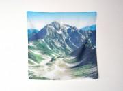 富山のコーヒー焙煎店で山のハンカチ展 富山の山の景色や山行の記録も