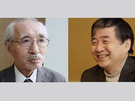 登壇者の岡井隆さん(左)と、北村薫さん(写真提供=新潮社)