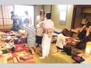 富山・八尾でワンコイン着物市 着物と縁つなぎ和装に親しむきっかけ作り
