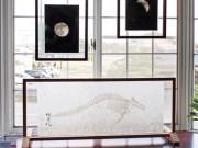 富山のカフェで和紙作家個展 3部シリーズ最終回