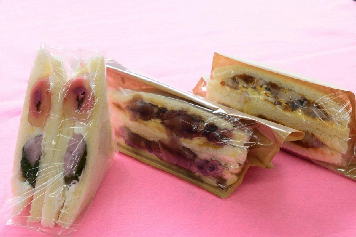 桜餅、ホタルイカ、いのししを取り入れた新メニュー