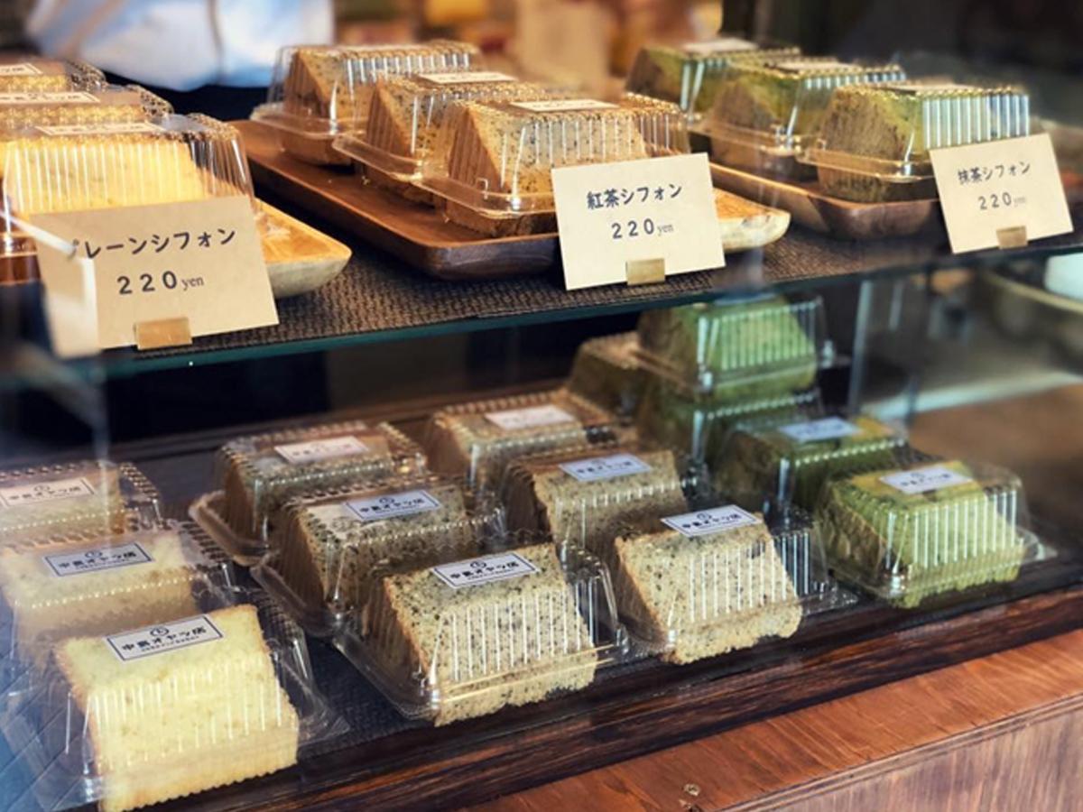 素朴な味わいが売りのシフォンケーキ