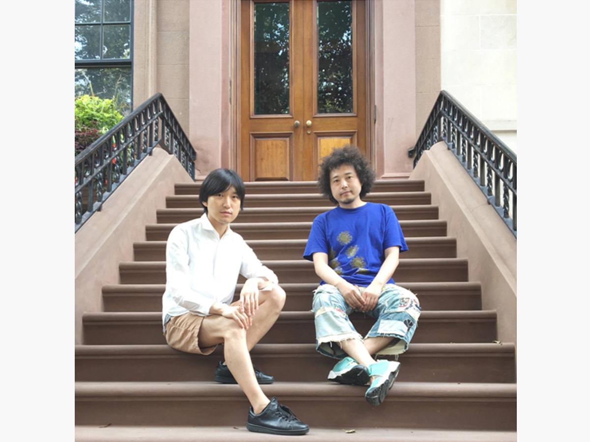 蓮沼執太さん(左)とU-zhaanさん