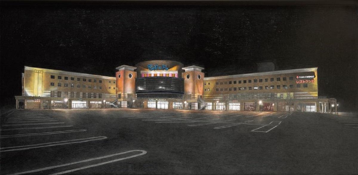 フューチャーシティ(未来都市)/Future city 紙に鉛筆、色鉛筆、アクリル絵の具/1425×680ミリ 2017年 撮影:室澤敏晴