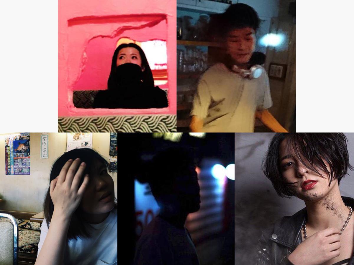 左上からISHIOUMARU、OTSUMAMI、左下からirrrrri、MR INVADER、AKARI