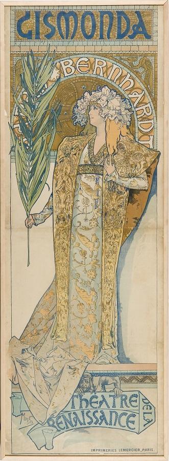 アルフォンス・ミュシャ≪ジスモンダ≫ 1894年 チェコ国立プラハ工芸美術館蔵