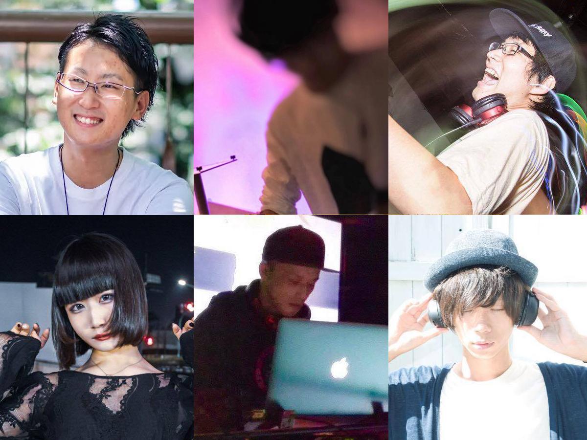 出演DJの6人