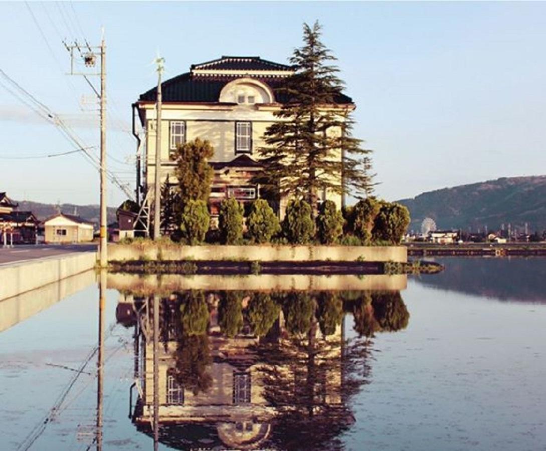 会場の旧宮島村役場