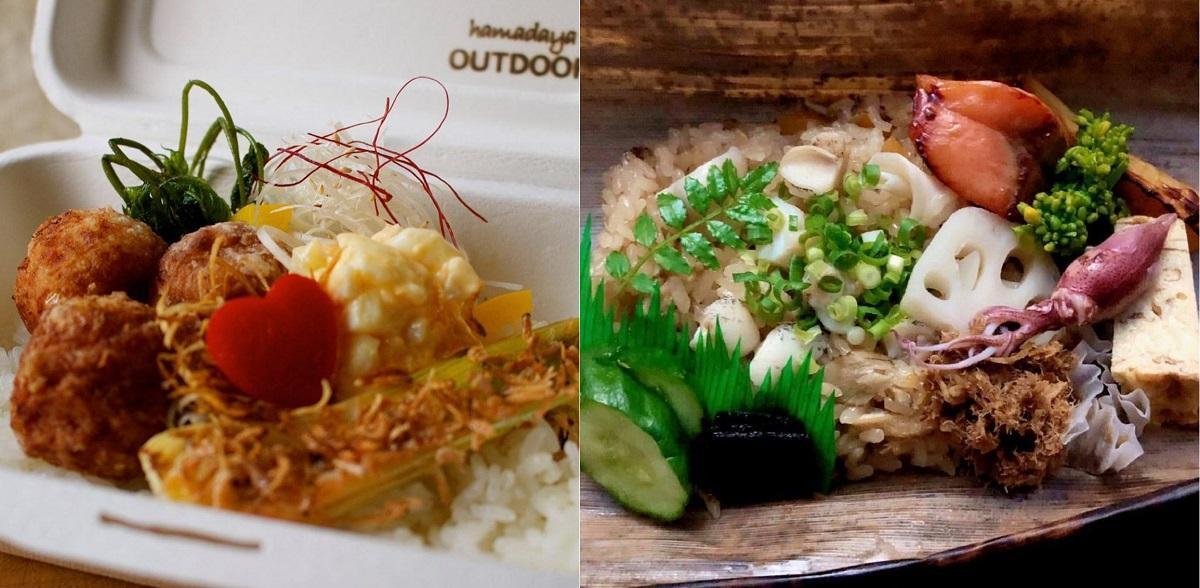 「浜多屋」と「海風亭」の弁当