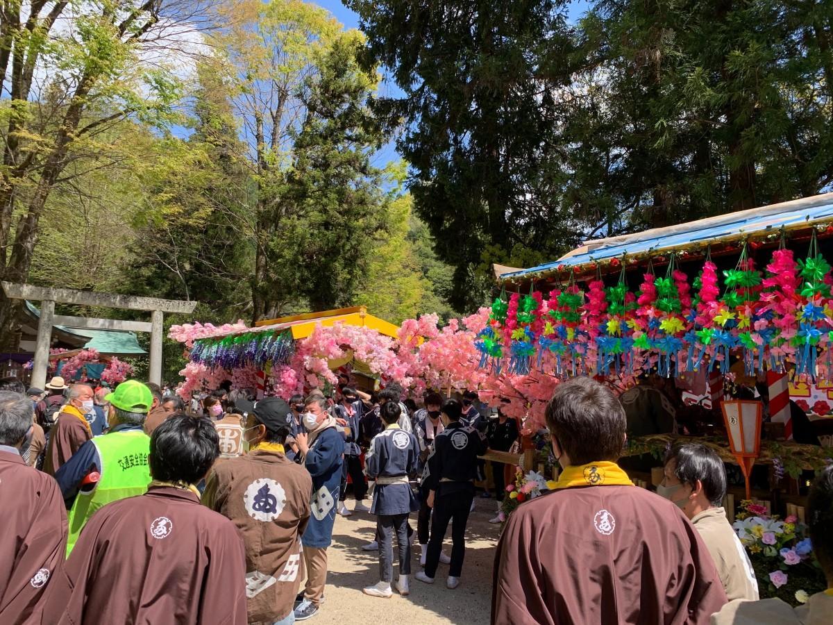 2年ぶりの開催となった「春の足助まつり」