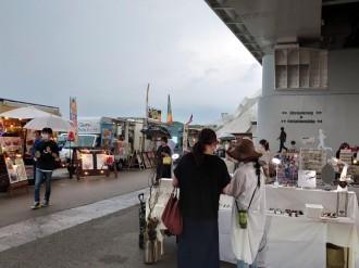 豊田・白浜公園で初開催の「あいあいまるしぇ」 クルマの外部給電機能で給電