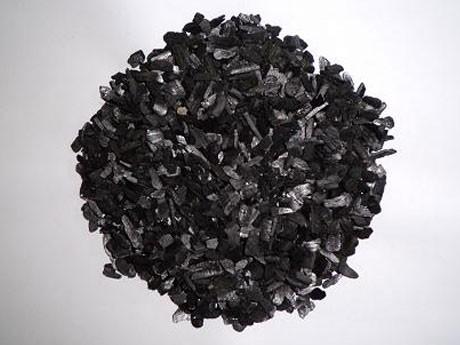 土壌に埋め込んだ活性新炭