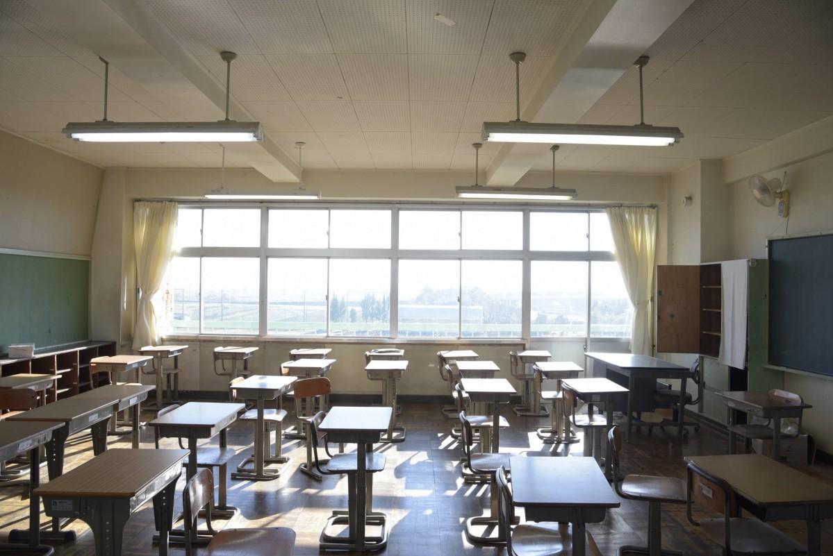 旧筑波東中学校の教室