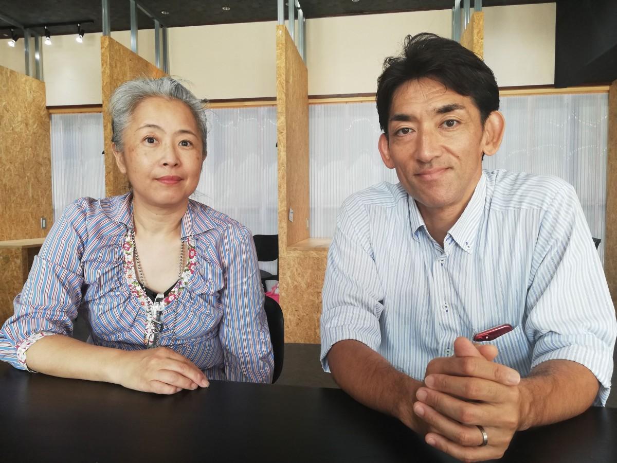 竹園東中学PTA副会長の山中さん、会長の関頭さん