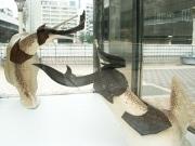 上野駅前の歩道橋に「大きなナメクジ」-東京芸大生の作品展示で