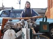 谷根千で「かばん」を自転車移動販売-滋賀産の帆布にこだわり