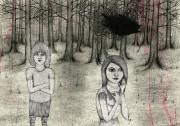 東上野のギャラリーでスウェーデン人作家が個展-「森」「ヘビメタ」テーマに