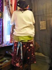 岡山の手作りブランド「つるかめ屋」のオリジナルタイパンツ、谷中で販売