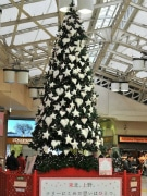 上野駅に復興支援クリスマスツリー、被災地で作ったオーナメント飾る