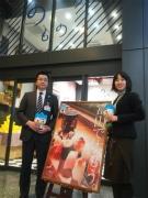 上野駅「のもの」で富山県産品販売-民謡披露、ゆるキャラ来店も