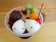 日暮里の和菓子店が「妖怪★あんみつ」 豆入りとブラックタピオカ入りの2種