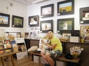 根津にインスタグラムの有名柴犬「まる」のギャラリー 犬連れの来店も歓迎