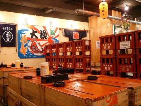 梅田経済新聞四半期PVランキング1位に輝いた「茶屋町まぐろや」の店内