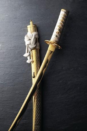 平澤正英さん作の純金製日本刀