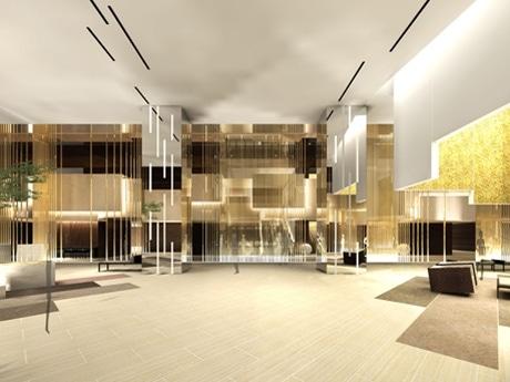 「ダイナミック&モダンラグジュアリー」をコンセプトにデザインを一新する同ホテル1階メーンロビーの完成イメージ