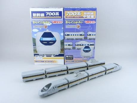 第2弾(7月4日発売)のBトレインショーティー 700系新幹線ひかりレールスター「基本4両セット」と同「増結4両セット」(各2,420円)