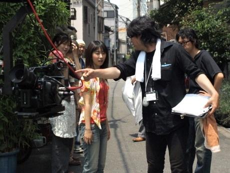 天神橋筋六丁目を舞台にした短編ビデオ映画「テンロクの恋人」のリハーサル風景
