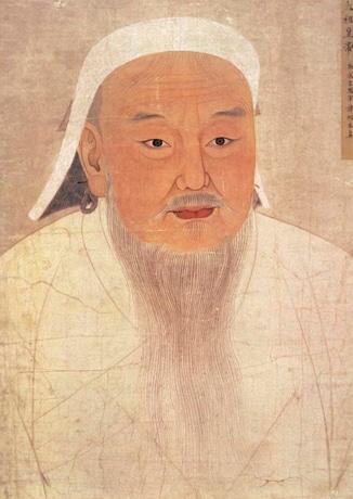 チンギス・ハーンの肖像画 協力:中国・内モンゴル自治区博物館