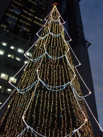 恒例となった高さ27メートルのクリスマスツリー