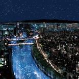 水都大阪の川を天の川に-七夕の夜に2万個の光の球を放流