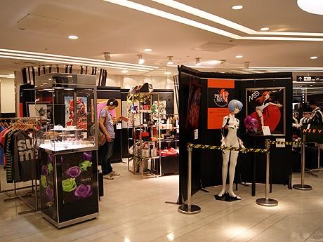 阪急百貨店メンズ館5階で開催中の「ヱヴァンゲリヲン『プレミアム14』」