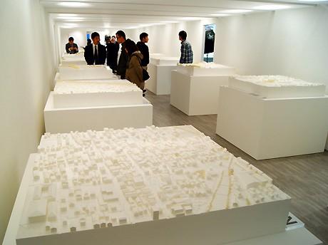 震災前の被災地域を再現した「失われた街 3.11のための鎮魂の復元模型」