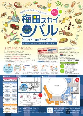 22店舗が参加する「梅田スカイバル」